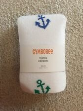 NWT GYMBOREE GIRLS ANCHOR WHITE TIGHTS COLLANTS SIZE XS(4)