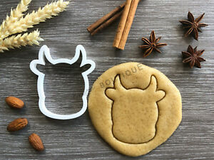 Cow Head Cookie Cutter 02 | Fondant Cake Decorating | UK Seller