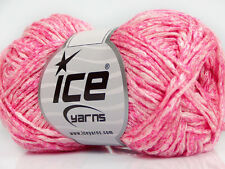 Lot of 8 Skeins Ice Yarns CACTUS TROPICAL Hand Knitting Yarn Candy Pink White