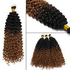 100% Natural Kinky Curly Crochet Braids Long Deep Wave as Human Hair Extensions