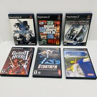 6 PS2 GAME LOT-Stuntman,Medal of Honor, Grand Theft Auto 3,Soul Calibur 2-Tested