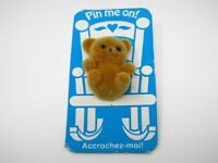 Vintage Collectible Pin: TEDDY BEAR Pin Me On!
