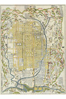 Kyoto; Antique Japanese Map; 1696