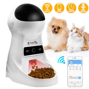 Automatic Dog Cat Feeder Smart Pet Auto Dry Food Dispenser Bowl LED Programmable