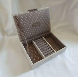 ❀ڿڰۣ❀ STACKERS Mini Size VANILLA & MOCHA SPOT Faux Leather JEWELLERY BOX / LID