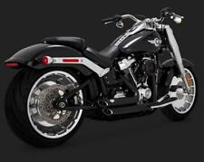 Vance and Hines 2018 + HD Breakout / Fatboy Short Shot Staggered 47235 - Black