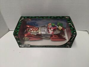 1:18 Scale 2001 HOLIDAY SANTA'S RED CHROME SPEEDSTER Die-cast By HOT WHEELS
