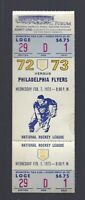 VINTAGE 1972-73 NHL PHILADELPHIA FLYERS @ LOS ANGELES KINGS FULL HOCKEY TICKET