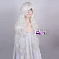 85CM Lolita White Long Curly Fancy Women Hair Cosplay Wig Heat Resistant+Wig Cap