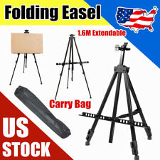 Artist Easel Aluminium Alloy Folding Painting Drawing Adjustable Tripod w/Bag Us
