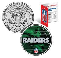 OAKLAND RAIDERS Field JFK Kennedy Half Dollar US Colorized Coin * NFL Licensed *