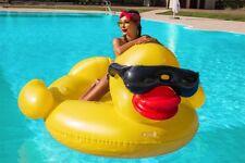 Ente Luftmatratze XXL Badeinsel 210cm Schwimminsel Schwimmliege PVC Liege #3492