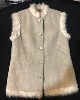 Vintage Genuine Shepherd  Loden West Germany Wool Vest Womens Lord And Taylor