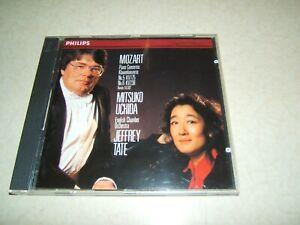 MOZART PIANO CONCERTOS 5 & 6 : UCHIDA / TATE  CD ALBUM PHILIPS 1991