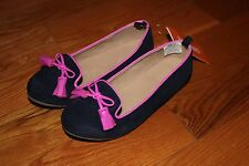 NWT Gymboree Bundled & Bright Size 13 Navy Blue Pink Bow Dress Shoes Flats
