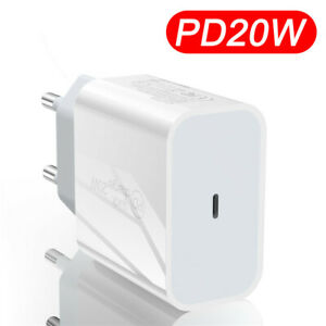 For iPhone 12 Pro Max Mini 11 20W USB Type-C Wall Fast Charger PD Power Adapter