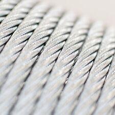 100m câble 8mm acier zingué EN 12385-4 6x19+FC