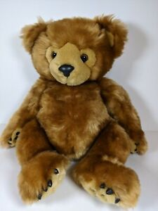"""FIRST MAIN PLUSH TEDDY BEAR """"DIMPLES"""" BROWN JOINTED CUTE STUFFED CUDDLY BEAR"""