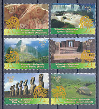 5047 ) UN VIENNA, 2007 WORLD HERITAGE, South AMERICA / mint never hinged