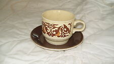 C4 Pottery Staffordshire Potteries 10-76 Cup & Saucer 14x8cm 2E4A