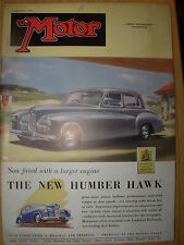 VINTAGE MOTOR MAGAZINE FEBRUARY 7 1951 THE NEW HUMBER HAWK