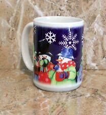 "Snowman Mug ""Snowman Trio"" Pattern Christmas Mug"