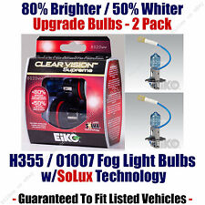 2-Pack Upgrade Fog Light Bulbs 80% Brighter 50% Whiter EiKO 01007 / H3 55 CVSU2
