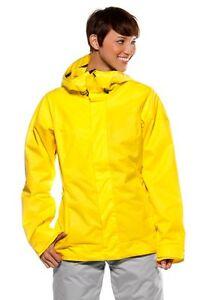 Womens Oakley Swervy Curve Shell Snow Ski Snowboard Jacket Prism Yelllow Medium