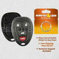 for Buick Chevy Pontiac Saturn Keyless Remote Car Key Fob Shell Pad Case 4b