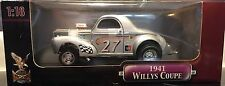 NIB RARE ROAD SIGNATURE 1941 WILLYS COUPE SILVER 1:18 FACTORY SEALED AND BANDED