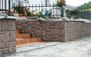 6 Gießformen Beton Form Wandverkleidung Schalungsformen, Schieferstruktur 320