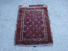 "2'3"" X 3'4"" ANTIQUE PERSIAN? BALUCH GRAIN BAG BAG FACE"