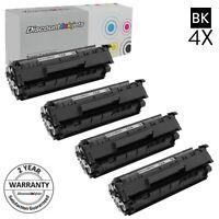 4 Pack Q2612A 12A Black Printer Laser Toner Cartridge for HP LaserJet 1012 NEW