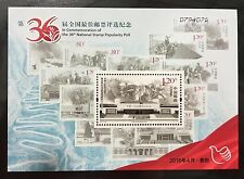 China Stamp 2016 the 36th Nat'l Best Stamp Popularity Poll 2015-20 S/S MNH
