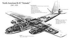 NORTH AMERICAN B-45 TORNADO AIRCRAFT CUTAWAY POSTER PRINT 20x36 HI RES