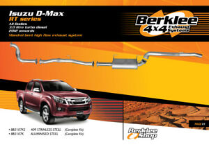 Isuzu D-Max RT 3.0L TD Turbo Back High Flow Exhaust Stainless Steel