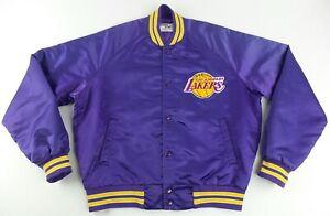Vintage ChalkLine Los Angeles Lakers Button Up Satin Jacket Size Men's Medium M