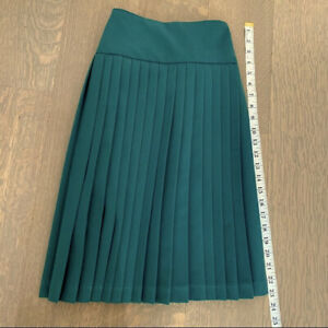 Green Girls Pleated skirt size 12