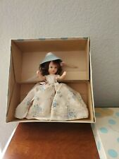 "Nancy Ann Storybook Doll Blue #123 ""Roses are Red Violets are Blue"" 5.5"" H"