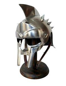GLADIATOR HELM Rüstung Römer Larp Gladiatoren Maximus Ritterhelm Sparta Legion