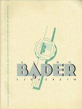 Bruno Bader Pforzheim Katalog Schmuck Uhren Bestecke um 1935