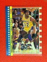 1987-88 Fleer Sticker Magic Johnson Los Angeles Lakers #1 | Hall of Fame