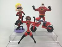 The Incredibles Lot 5pc Superhero Toy Figures Disney Pixar McDonalds Set B6