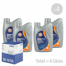 Engine Oil and Filter Service Kit 4 LITRES Gulf Formula G 5w-40 4L