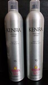 KENRA #25 Volume Spray Super Hold Finishing Hairspray 16 oz. ea. --- 2 BOTTLES