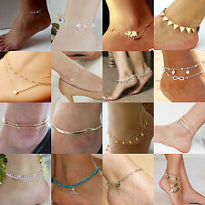 Women Ankle Chain Crystal Anklet Bracelet Foot Sandal Barefoot Beach Jewelry New
