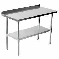 More details for heavy duty stainless steel kitchen catering table work bench prep table 2 tier