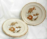 "LOT 4 BAROQUE HEARTHSIDE AUTUMN FAIR STONEWARE JAPAN DINNER PLATES 10-1/2"" 10.5"""