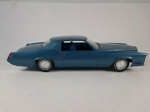 Vtg Jo-han Blue 1969 Cadillac Eldorado Promo Friction Plastic Car