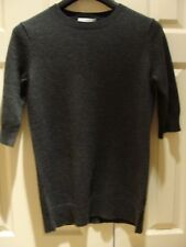 NWT VINCE  ELBOW SLEEVE CASHMERE SWEATER CHARCOAL SIZE S/P